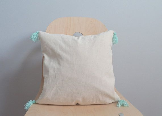 Tassel pillow, Blue tassel pillow, Tassel throw pillow, Tassel pillow case, Tassel pillow cover, Blue tassel, Baby blue tassel, tassel cover