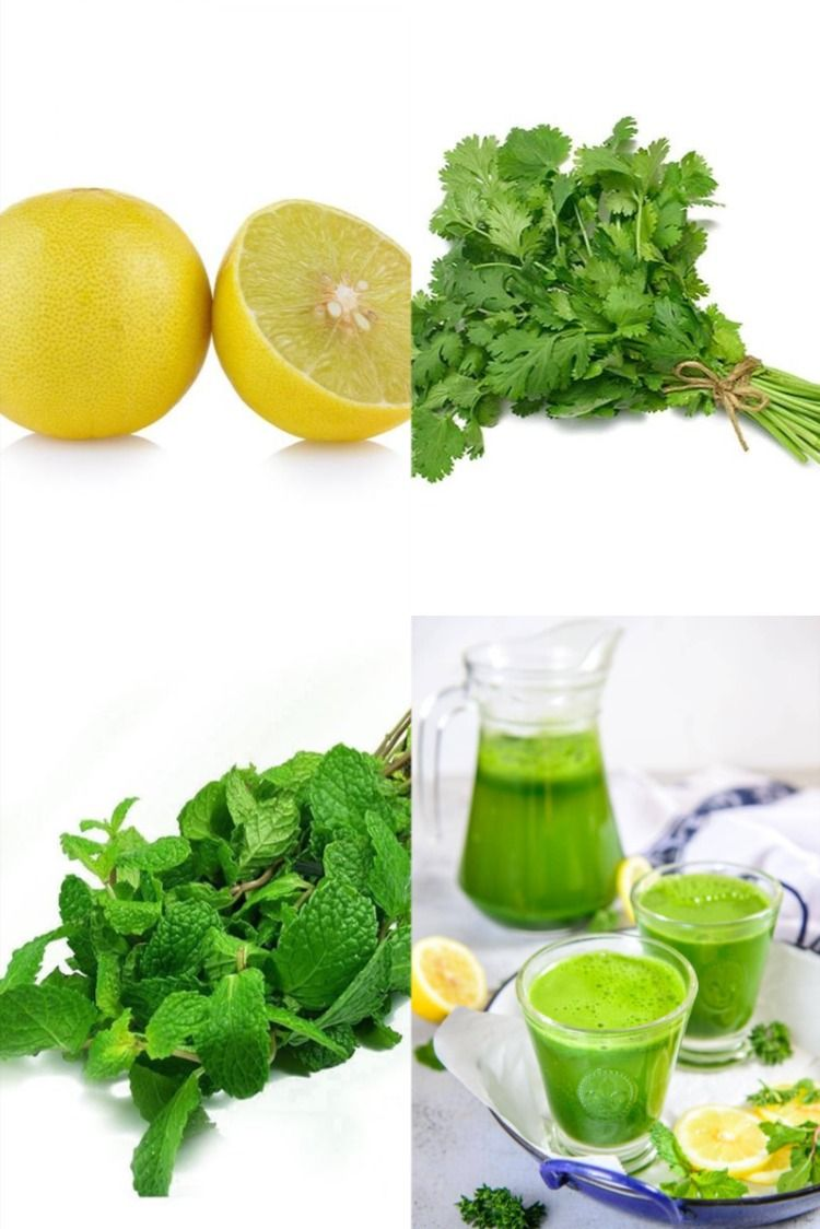 coriander and mint together makes a refreshing drink, not