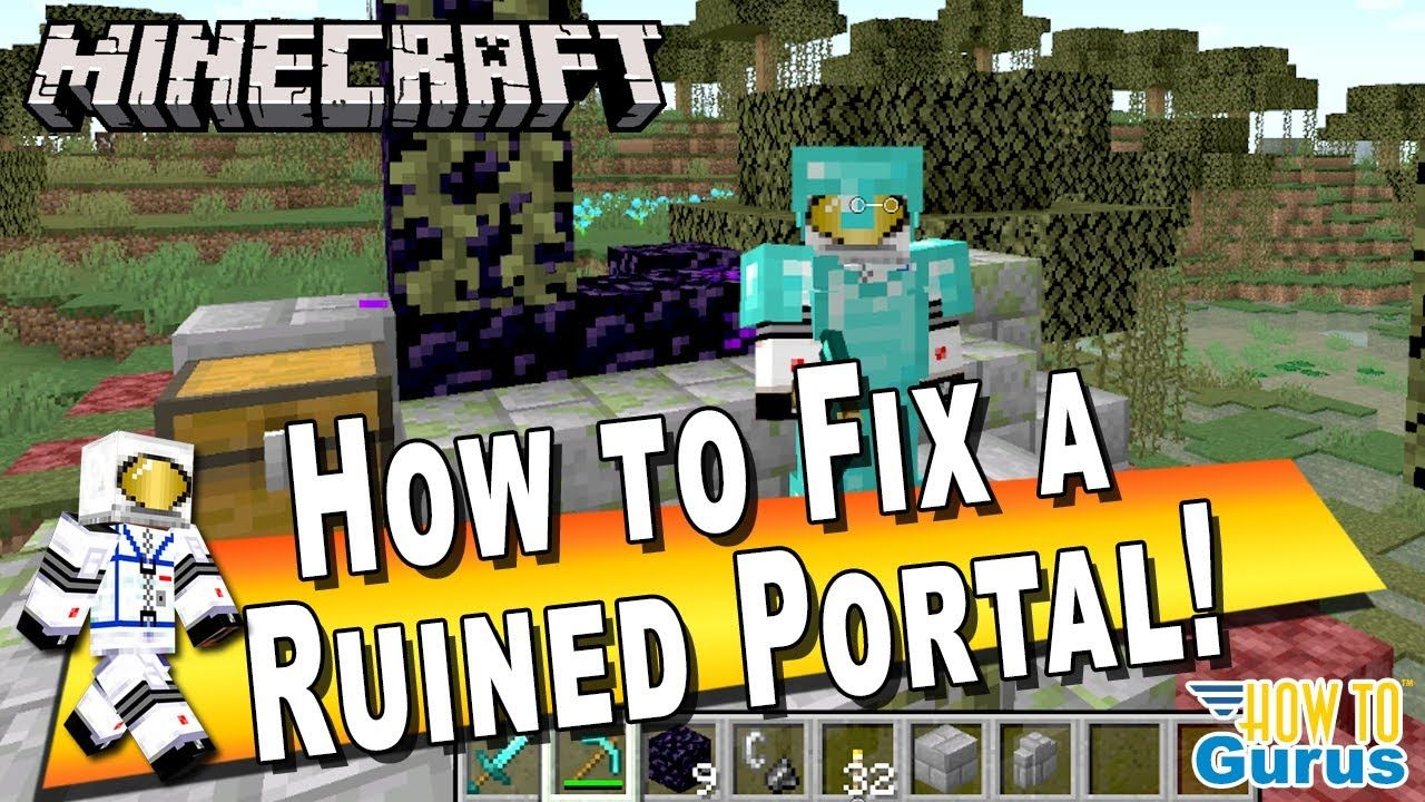 How to Fix a Minecraft Ruined Portal to Get You into the