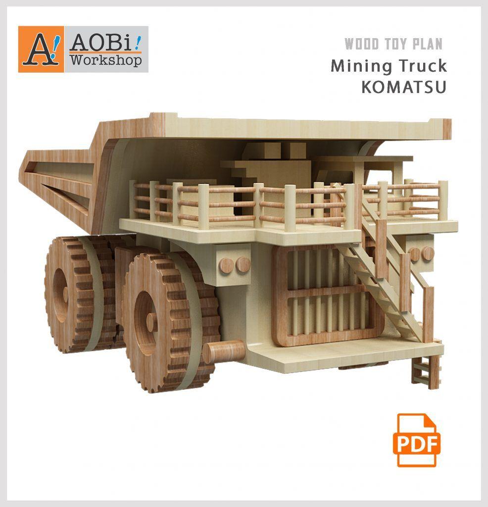 mining truck - komatsu plan set | wooden toys | wood toys