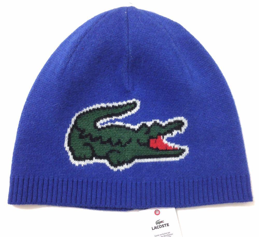 c5610b71 New$65 LACOSTE BEANIE Big Alligator Logo Men/Women Winter Knit Hat WOOL/CASHMERE  #Lacoste #Beanie