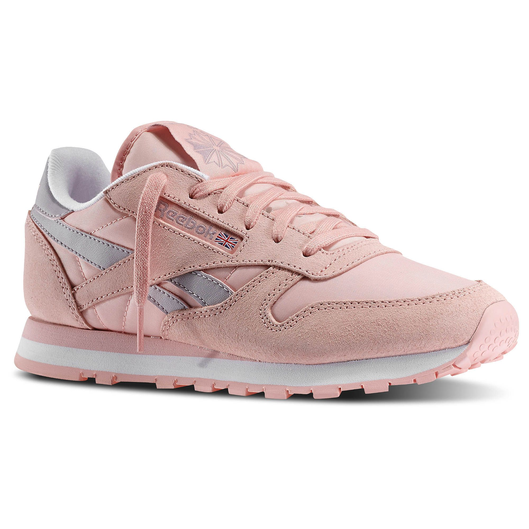 Women s classic leather casual trainer with touches of the bright ... b89154669d4