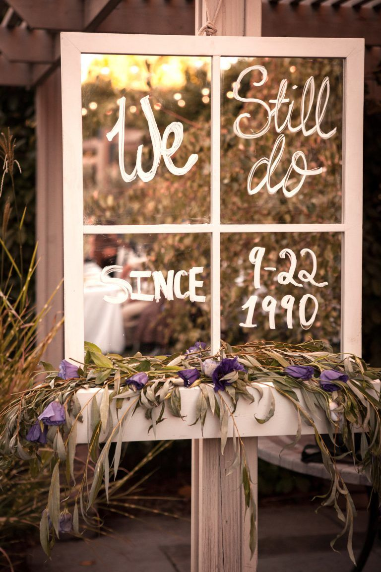 Window Sill Mirror Rental Anniversary Party Decorations 35th