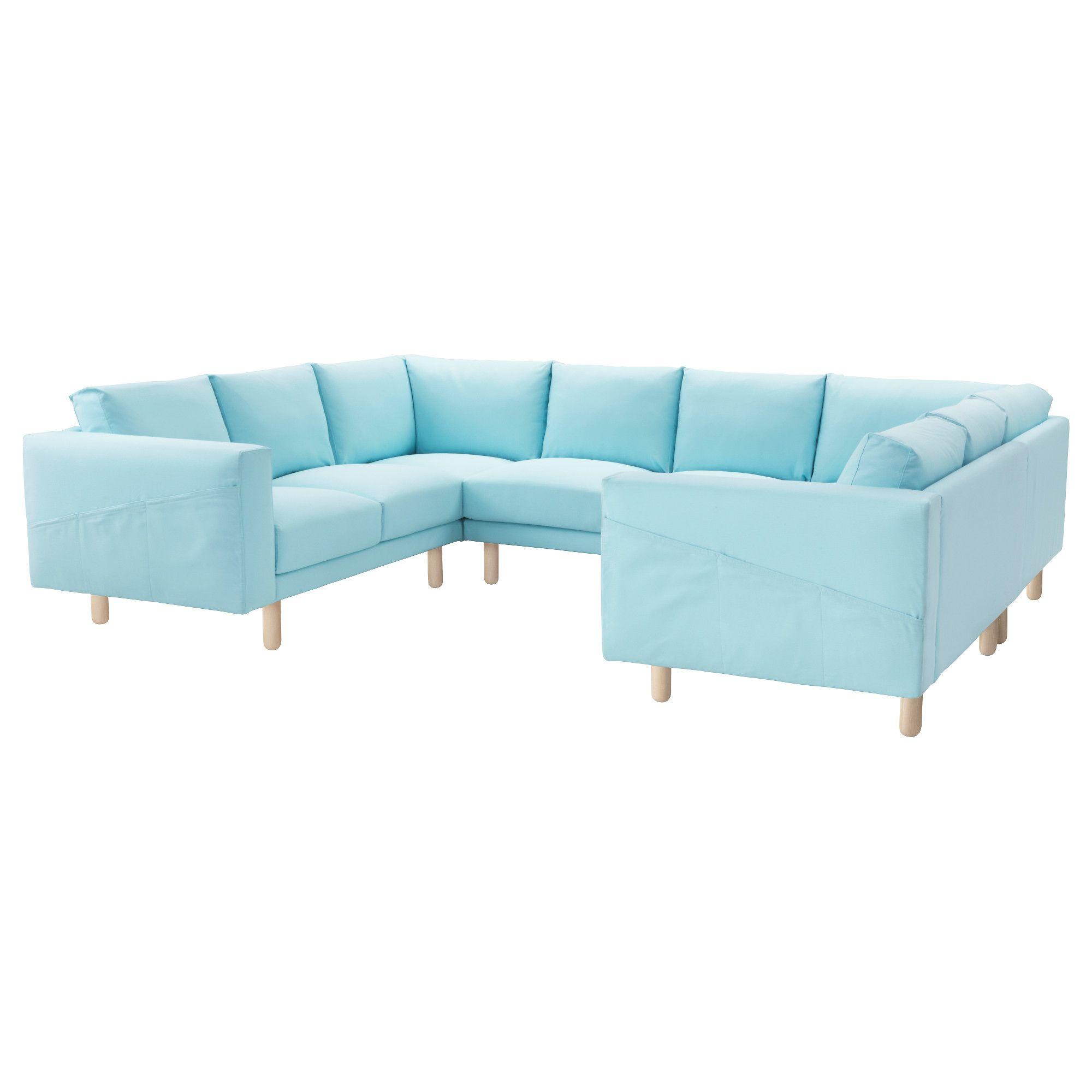 NORSBORG, 8er Sofa, U Form, Edum Hellblau, Hellblau Jetzt Bestellen