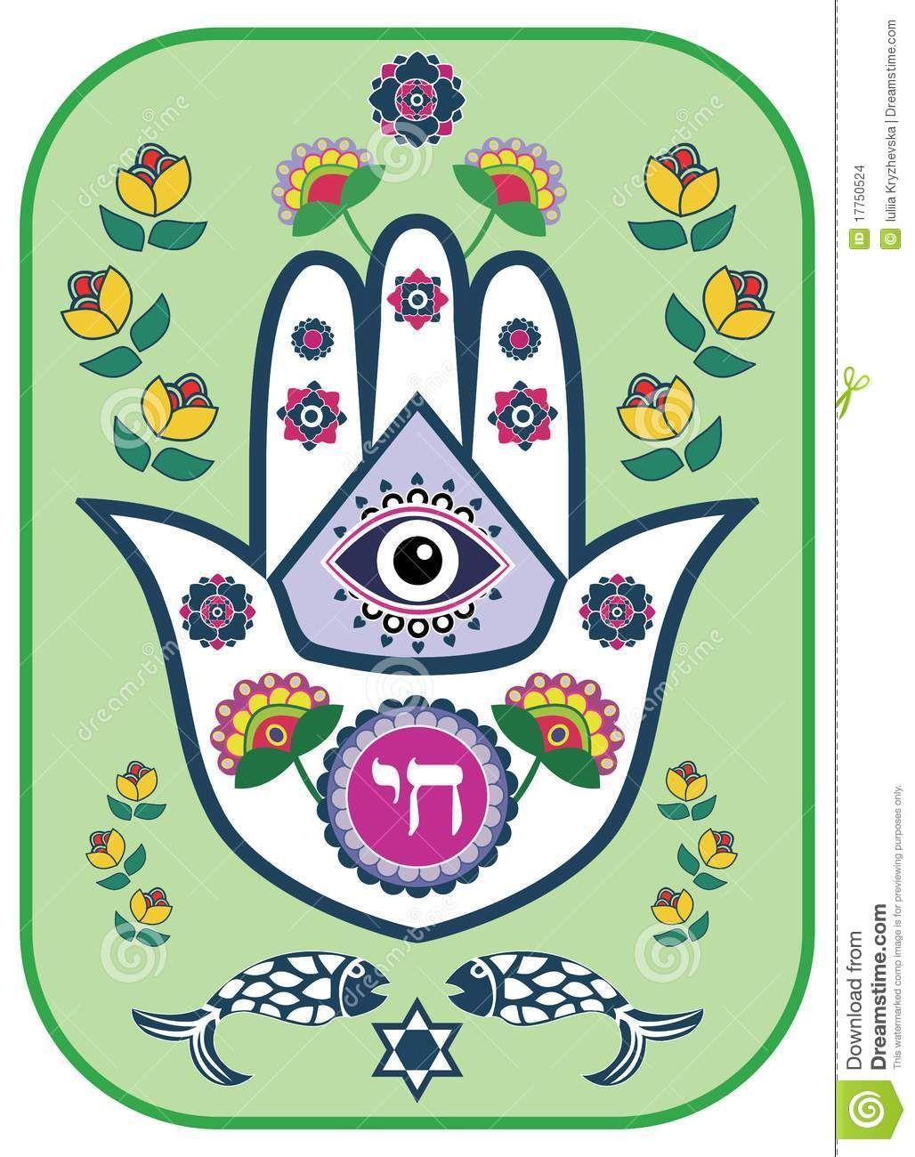 Jewish Hamsa Hand Amulet Or Miriam Hand Stock Images Image