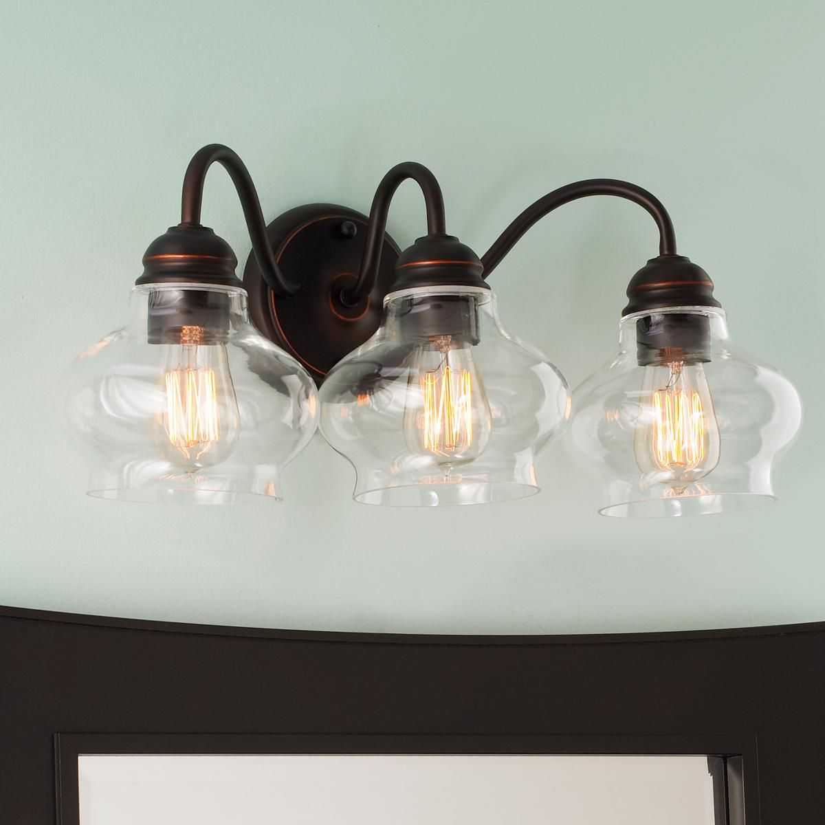 Double Glass Vanity Light : Double Bullet Glass Wall Sconce Glasses, Lights and Chang e 3