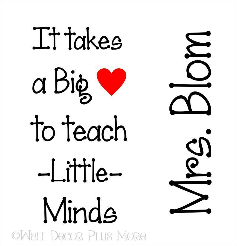 Glossy Vinyl Decal Stickers For Teacher Customized With Name - Customized vinyl decals