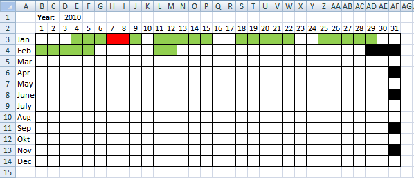 Visualize Date Ranges In A Calendar In Excel  Excel