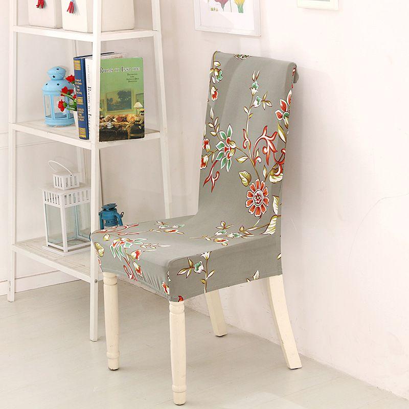 Flower Printed chair seat cover stoelhoezen eetkamer capa de cadeira ...
