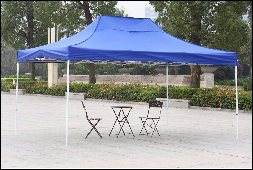 Outdoor Canopy Shelter Gazebo 10x15 Blue Patio Backyard Shade