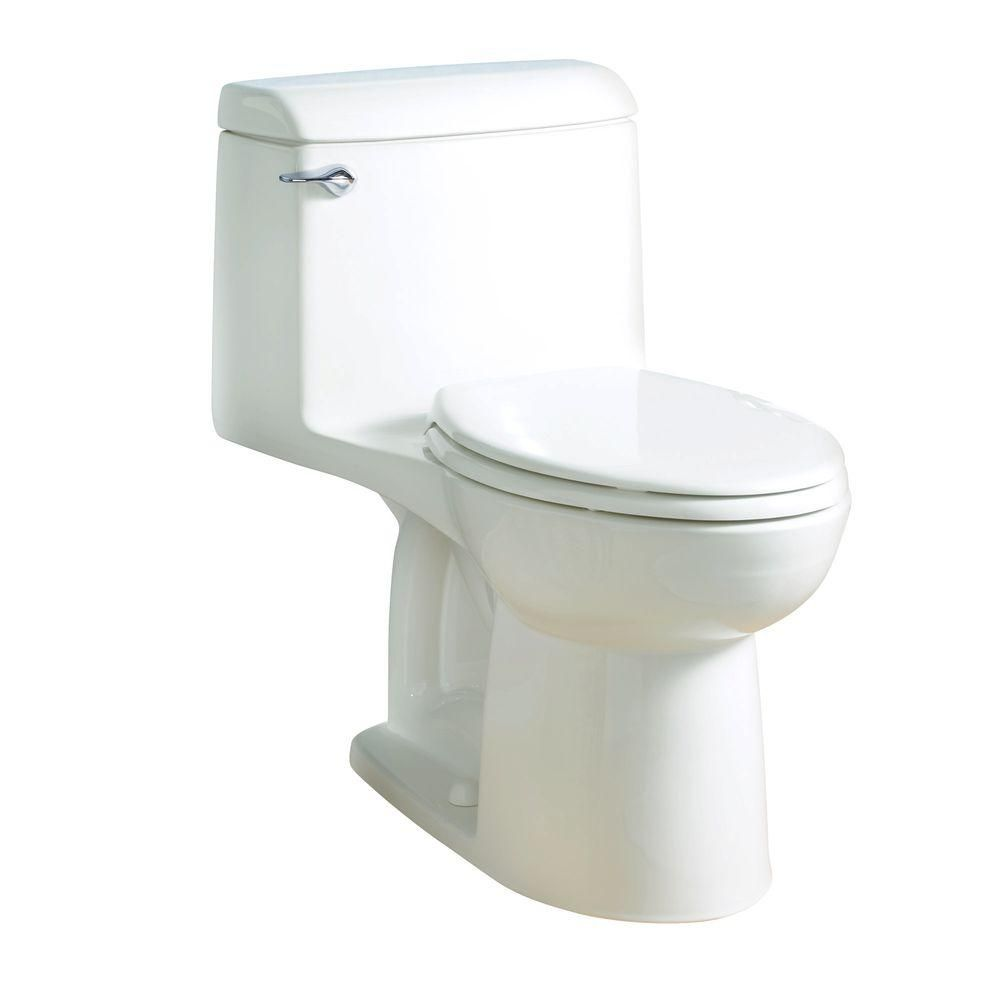 American Standard Champion 4 Tall Height 1 Piece 1 6 Gpf Single Flush Elongated Toilet In White Seat Included 2034314 020 One Piece Toilets American Standard Toilet Design