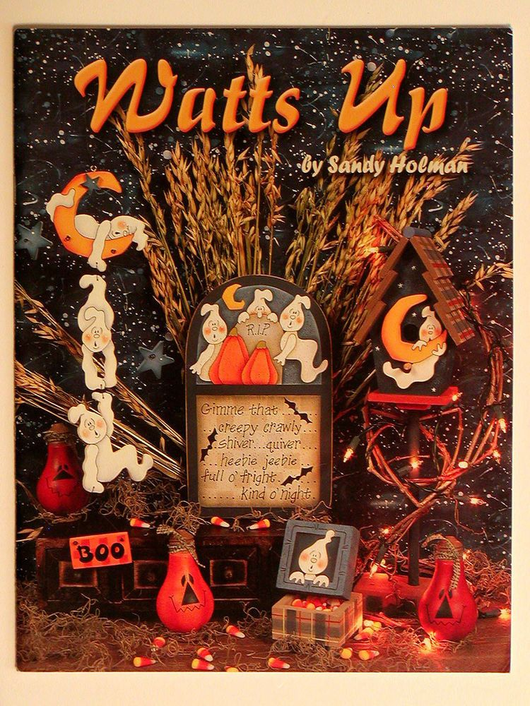 Sandy Holman WATTS UP Tole Painting Book Recycled Lightbulbs ...