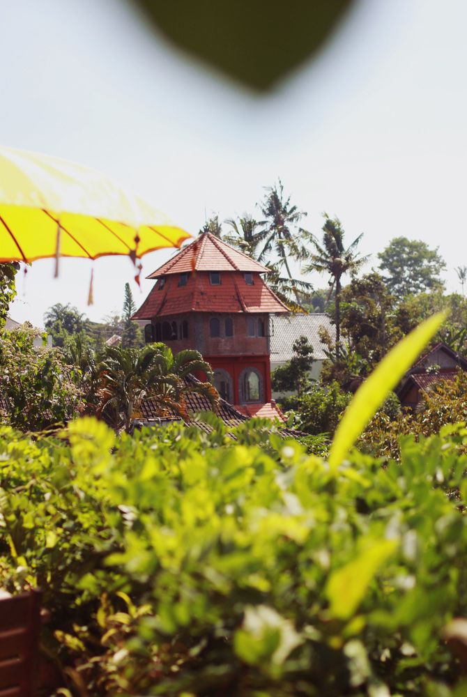 Ubud, Bali Fairy house looking out from Yellow Flower