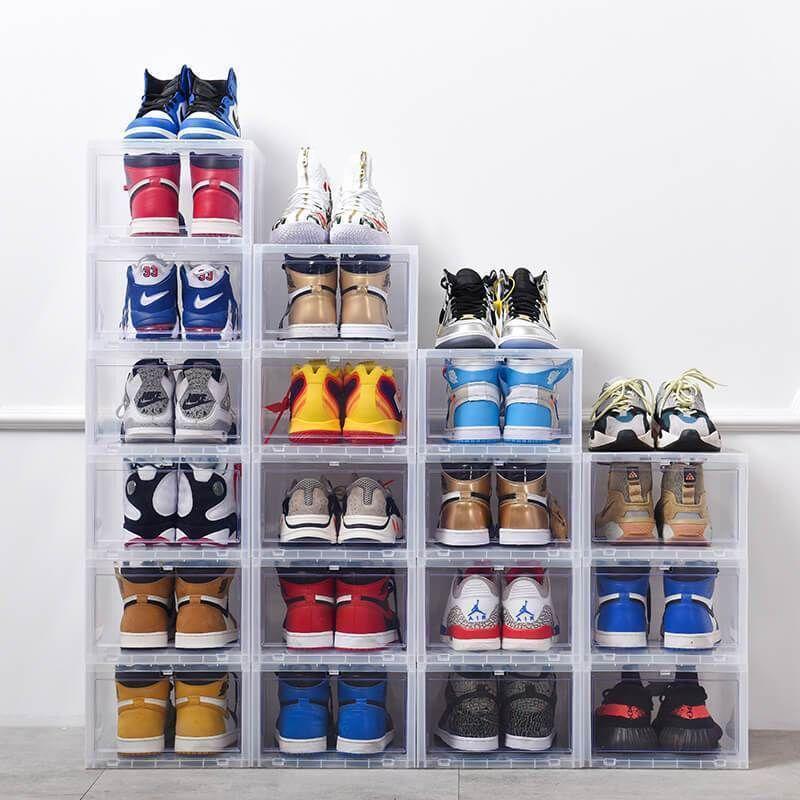 Buy 1 Get 5 Off Drawer Type Shoe Box Storycorner In 2020 Sneaker Storage Box Shoe Box Sneaker Storage