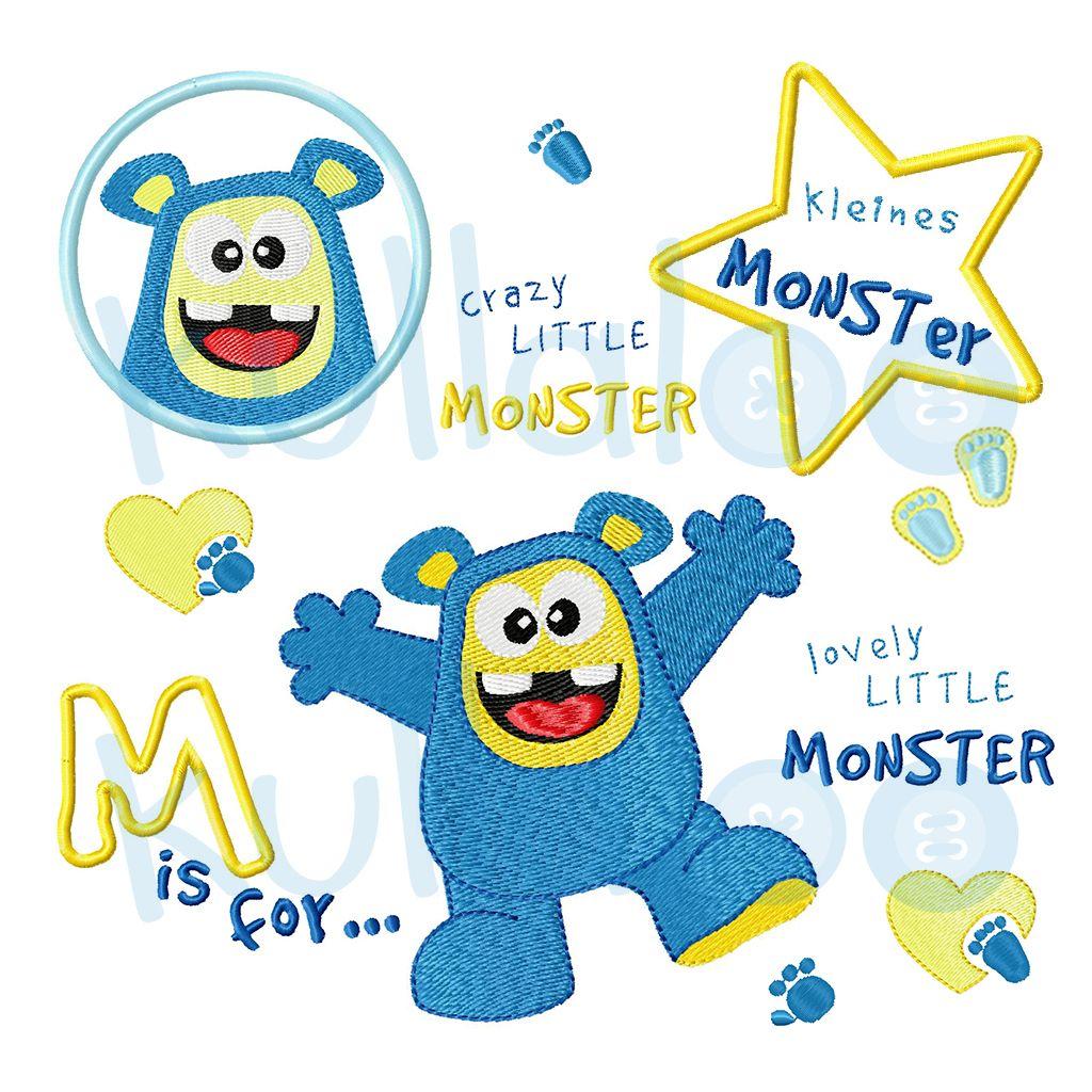 Stickmonster Junge 10x10 mit 20 Stickdatei-Varianten   Monster nähen ...