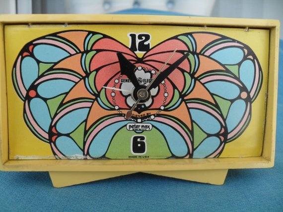Vintage Peter Max Clock 60s 70s by VintageFunland on Etsy ... Peter Max 60s