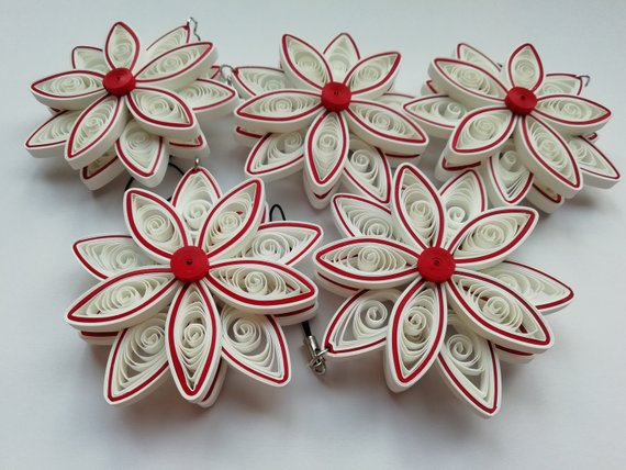Christmas Ornaments Quilled Ornaments Art Paper Handmade Paper Quilling Jewelry Paper Quilling Cards Quilling Designs