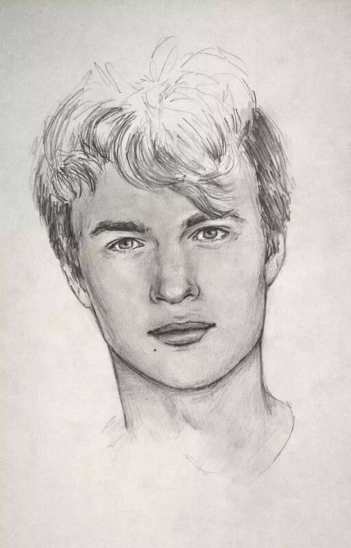 Ansel elgort drawings art pinterest ansel elgort for The fault in our stars coloring pages