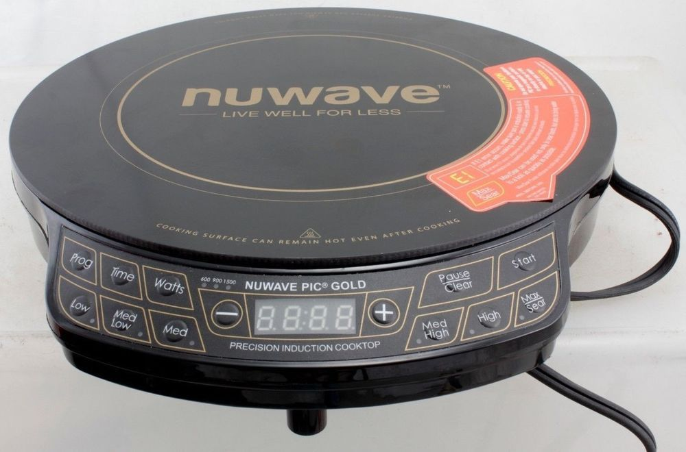 Nuwave Precision Induction Cook Top Gold 1500 Watts Model 30211 Br Nuwave Induction Cooktop Nuwave Induction