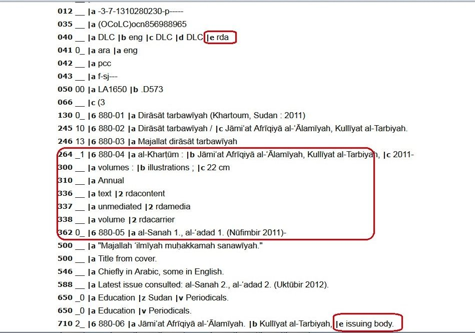 Serials Library Classification Taxonomy Info