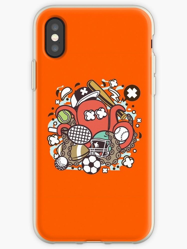 new styles eb560 45c9c Sports Octopus 90s cartoon nickelodeon' iPhone Case by poiskovic в ...