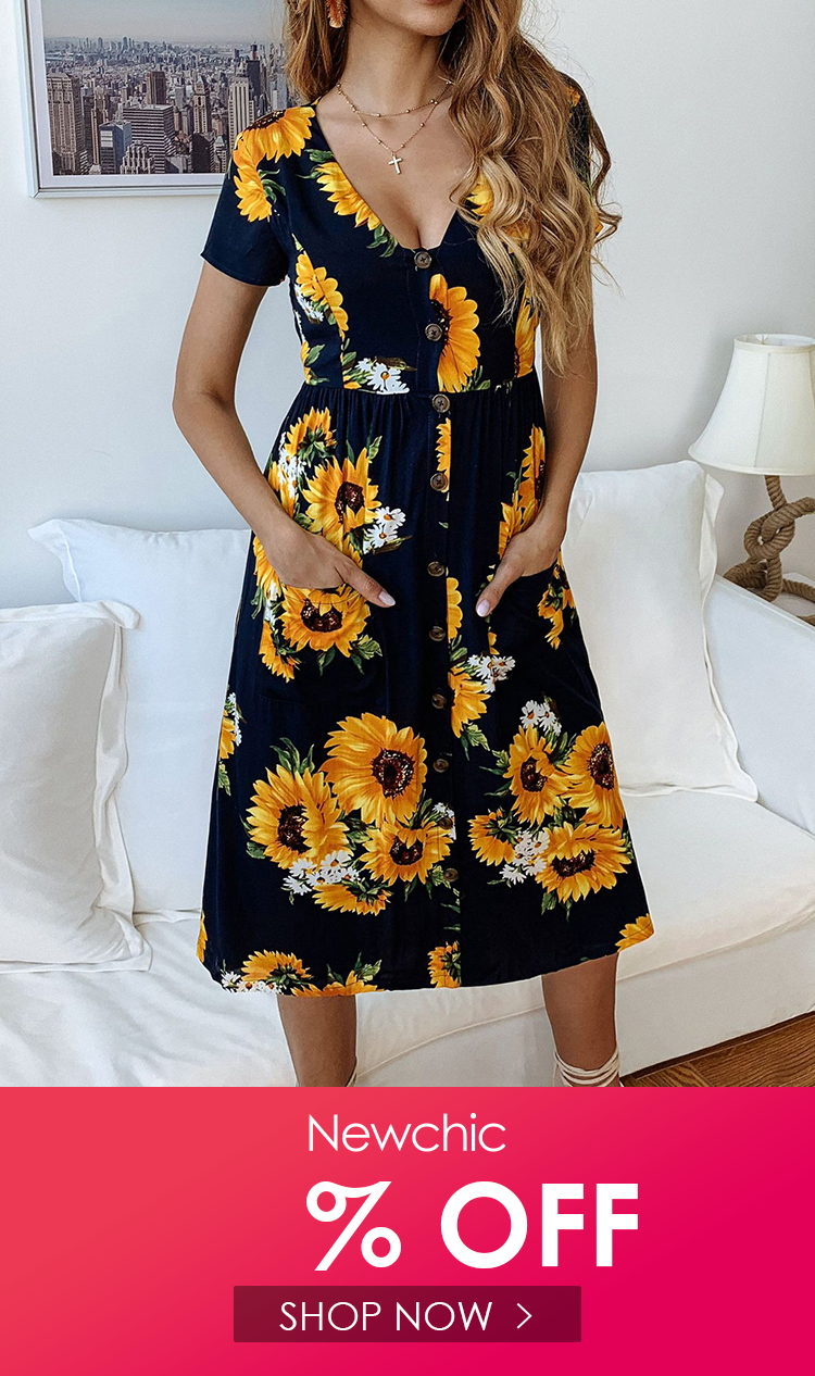 I Found This Amazing Print Sunflower Short Sleeve Botton Deep V Neck Dress With 30 00ro And 1 Short Sleeve Maxi Dresses Midi Dress Casual Short Sleeve Dresses [ 1266 x 750 Pixel ]