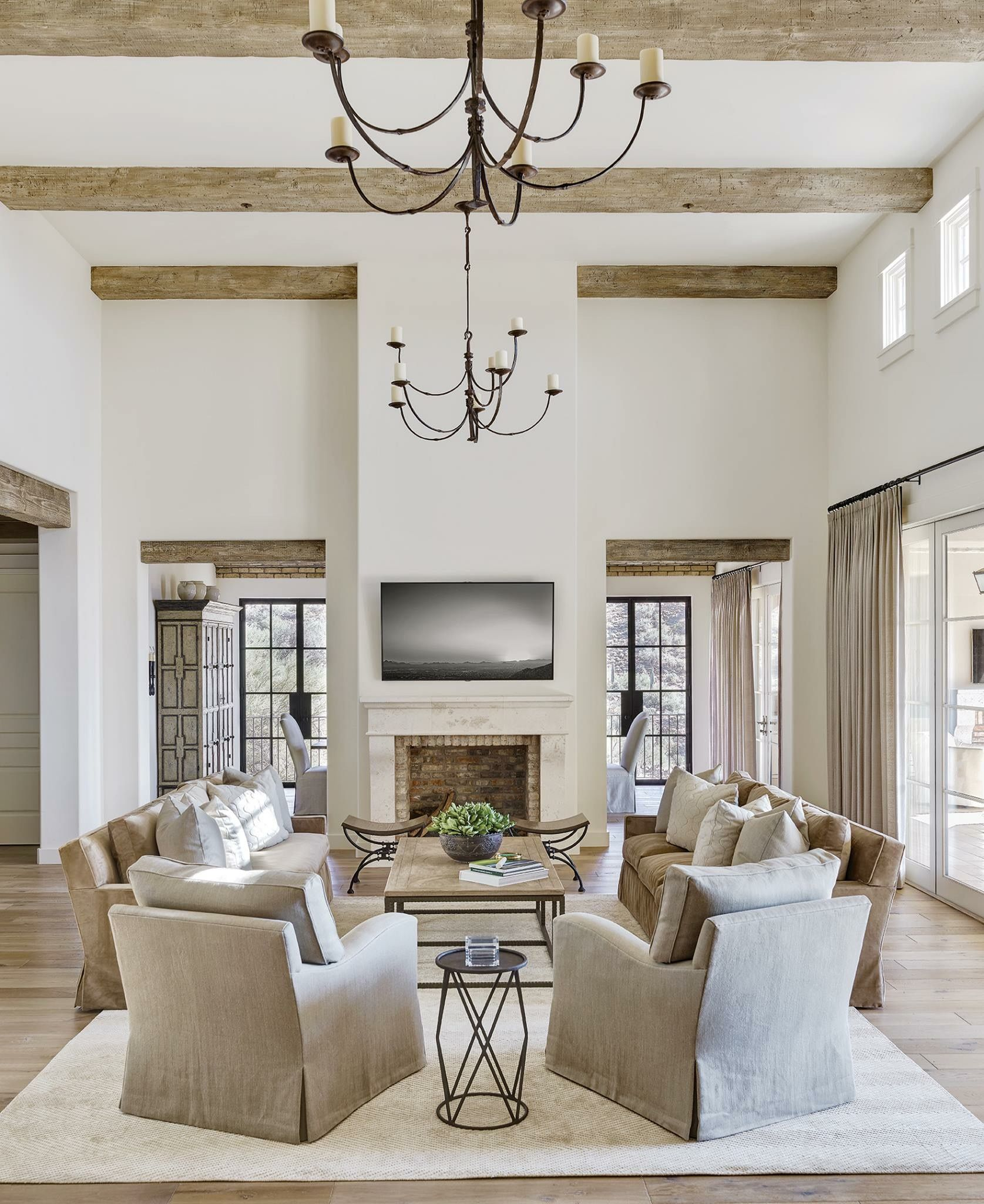 Pin by peek and co on greystone | Pinterest | Wall colors, Beams and ...