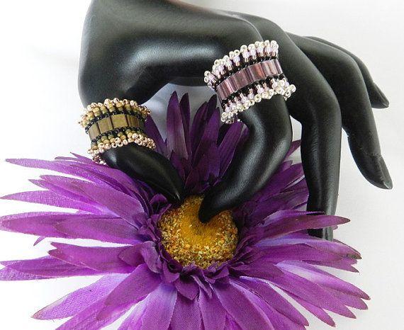 Little Bo Peep Bracelet and Ring Tila Beading by DebgerDesigns