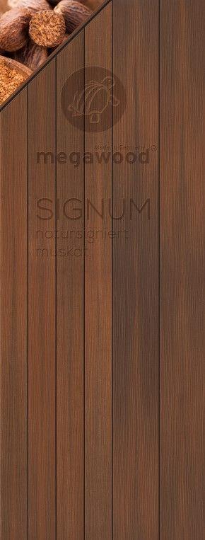 Wpc Dielen Megawood megawood terrassendielen wpc jumbo signum muskat 21 x 242 mm