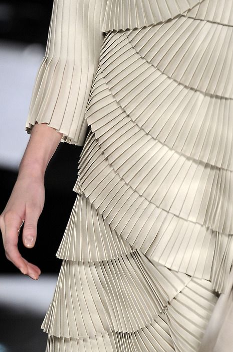 ccc47aab07c7 Layered Pleats - pleated dress  closeup fashion detail    Valentino Haute  Couture