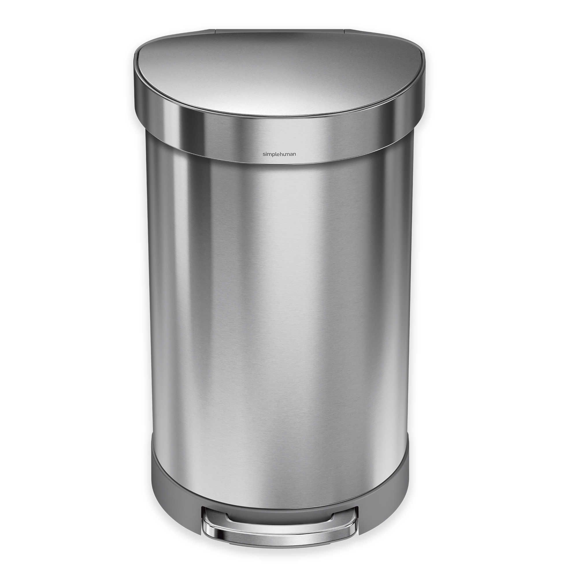 Best Simplehuman® Stainless Steel 45 Liter Semi Round Liner Rim 400 x 300