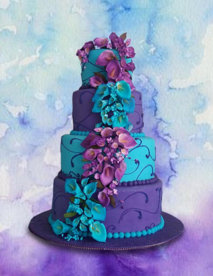 My Wedding Image By Renee Smith In 2020 Teal Wedding Cake