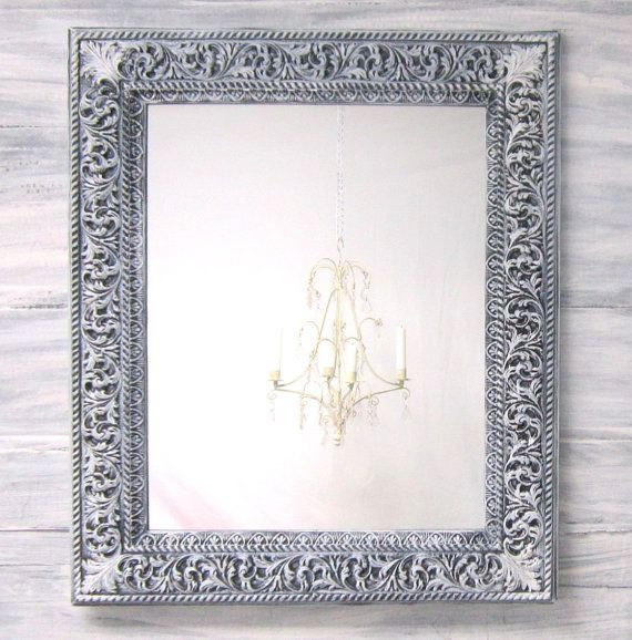 Reserved for trish lay a way french country mirror for for White framed mirrors for sale