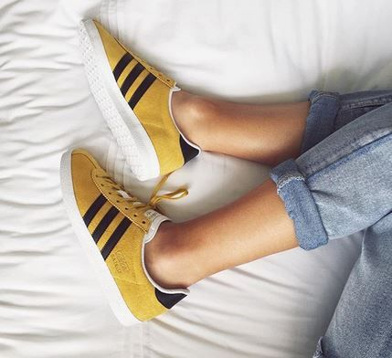 mustard yellow adidas gazelle