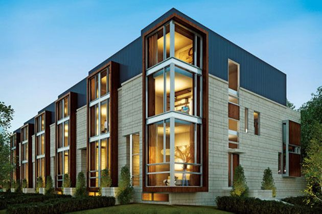 Linea on bayview modern townhomes by stephen teeple for Modern townhouse plans
