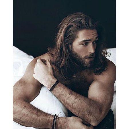 Mann Lange Haare Bart Mittellange Haare