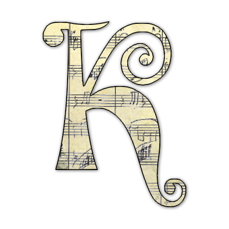 FLORES Y LETRAS PARA DECOUPAGE Musical Letter of the