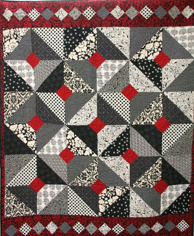 Black White And Red Quilts Love Black White And Red And Love