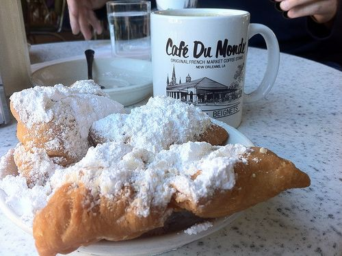 Image result for new orleans cafe du monde beignets