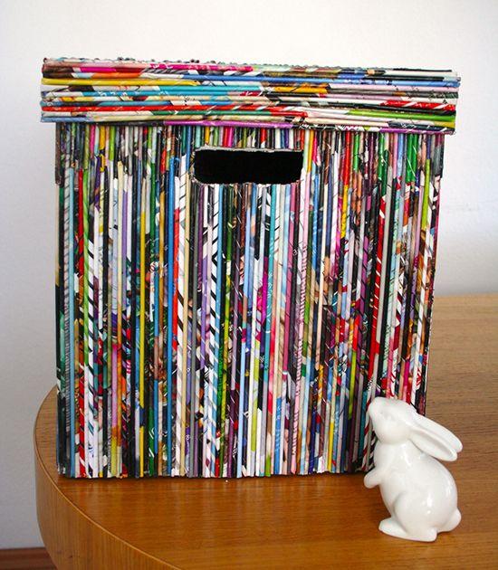 6 cosas que puedes hacer para reciclar tus revistas de for Reciclar cosas para decorar