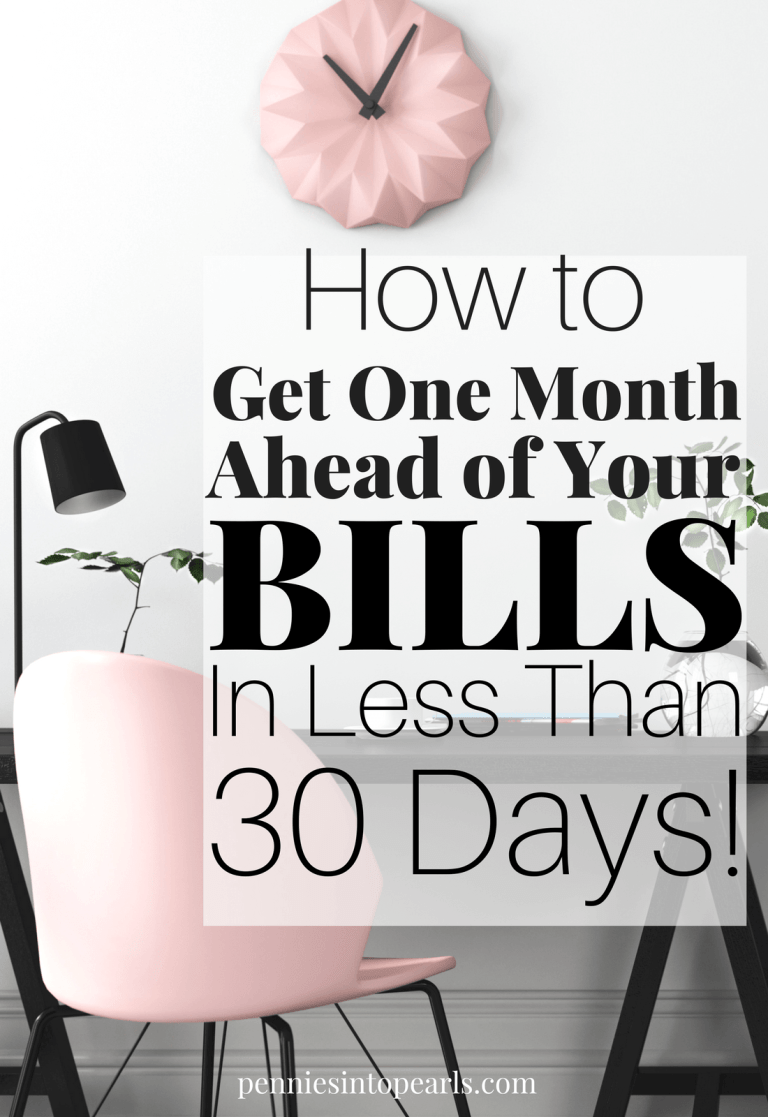 How To Get One Month Ahead Of Your Bills In Less Than 30 Days Financial Planning Saving Money Money Saving Plan Budgeting Finances