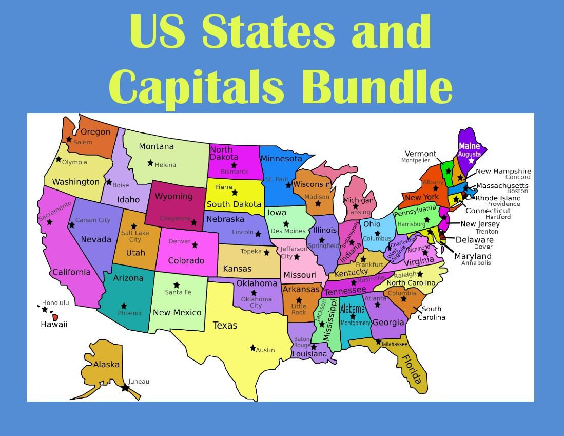 Us Map Lesson Plans US States and Capitals Webquest Bundle | States and capitals