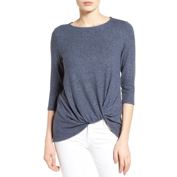Petite Women's Gibson Twist Front Cozy Fleece Pullover ($44) via ...