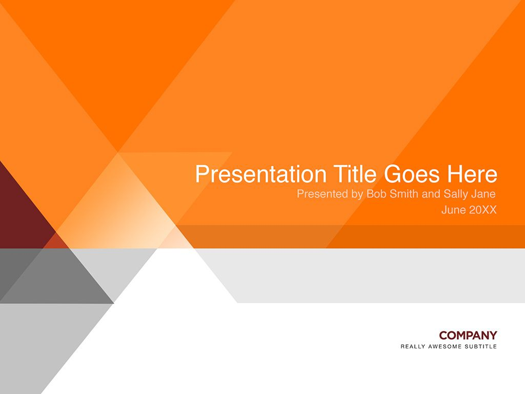 Orange And Gray Presentation Template Presentation
