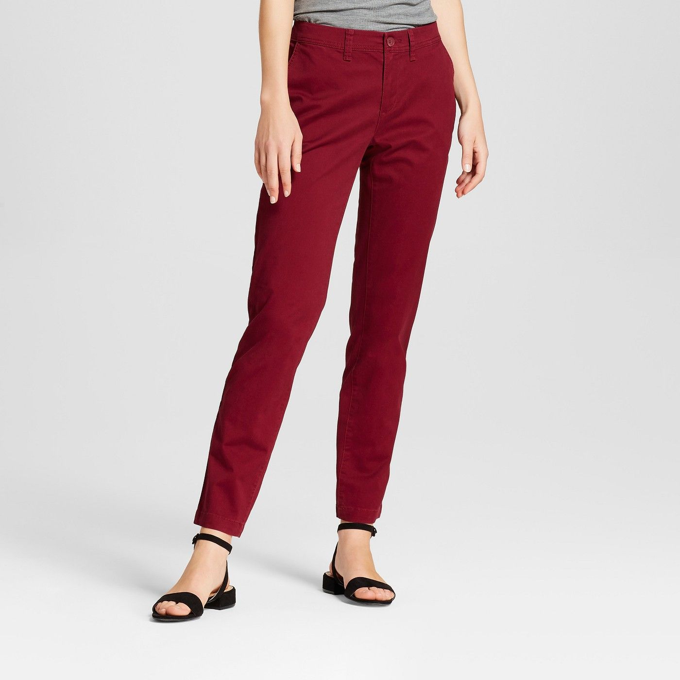 Women S Slim Chino Pants A New Day Image 1 Of 3 Slim Chino Pants Slim Chinos Slim Fit Chino Pants