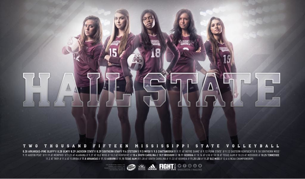 Posterswag Com Top 30 Ncaa Volleyball Schedule Posters Smsports Sportsbiz Soccer Poster Volleyball Posters Mississippi State