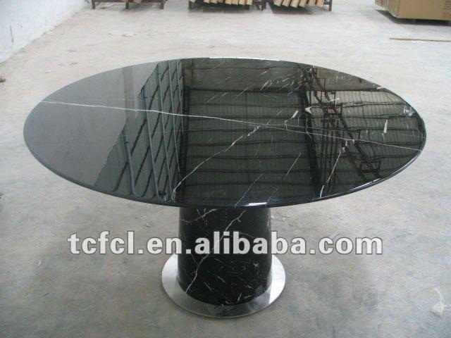 Mesa de comedor redonda de mármol, Mesa redonda en madera del diseño ...