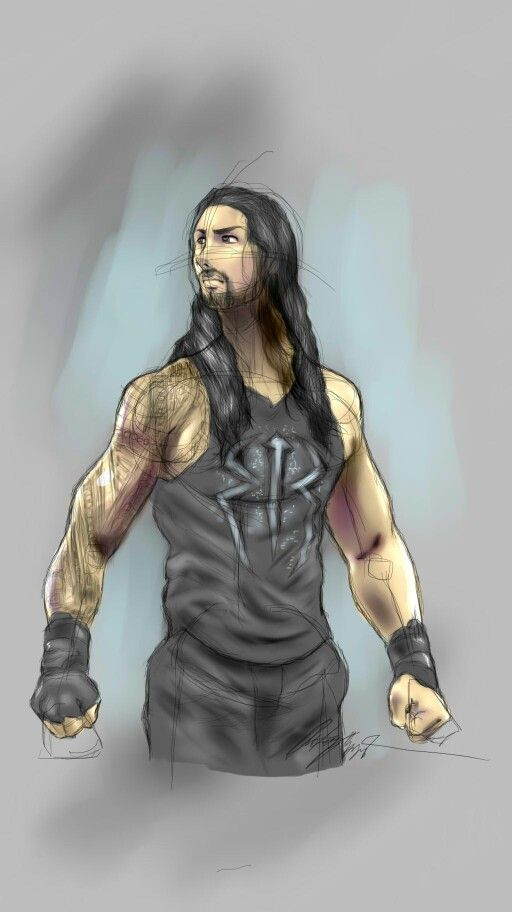 My Sketch And Color Of Wwe Superstar Roman Reigns Roman Reigns Drawing Roman Reigns Wwe