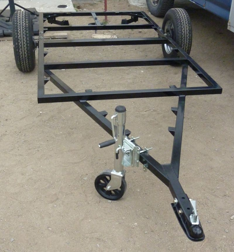 a frame on trailer frame