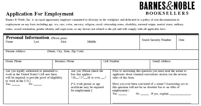 Rohagchatssfer4339s Soup Barnes And Noble Job Application | chastity ...